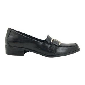 Life Stride (6.5M) Beth Buckle Loafers Black Faux